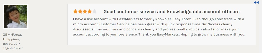 easyMarkets reputation