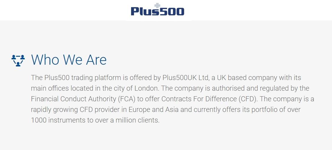 Plus500 Company profile