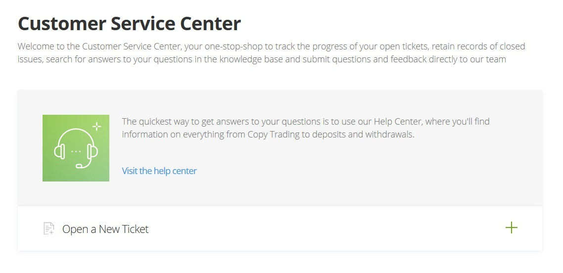 etoro customer support