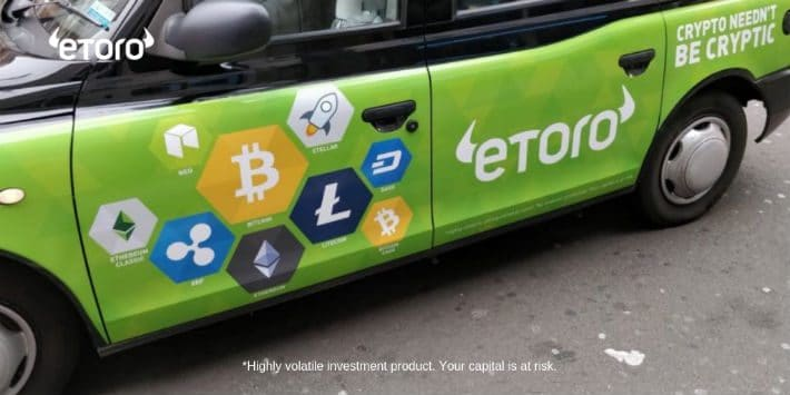 Bitcoins Transferred at eToro Increasing Considerably