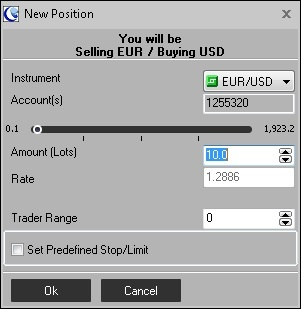 ActTrader trading screen