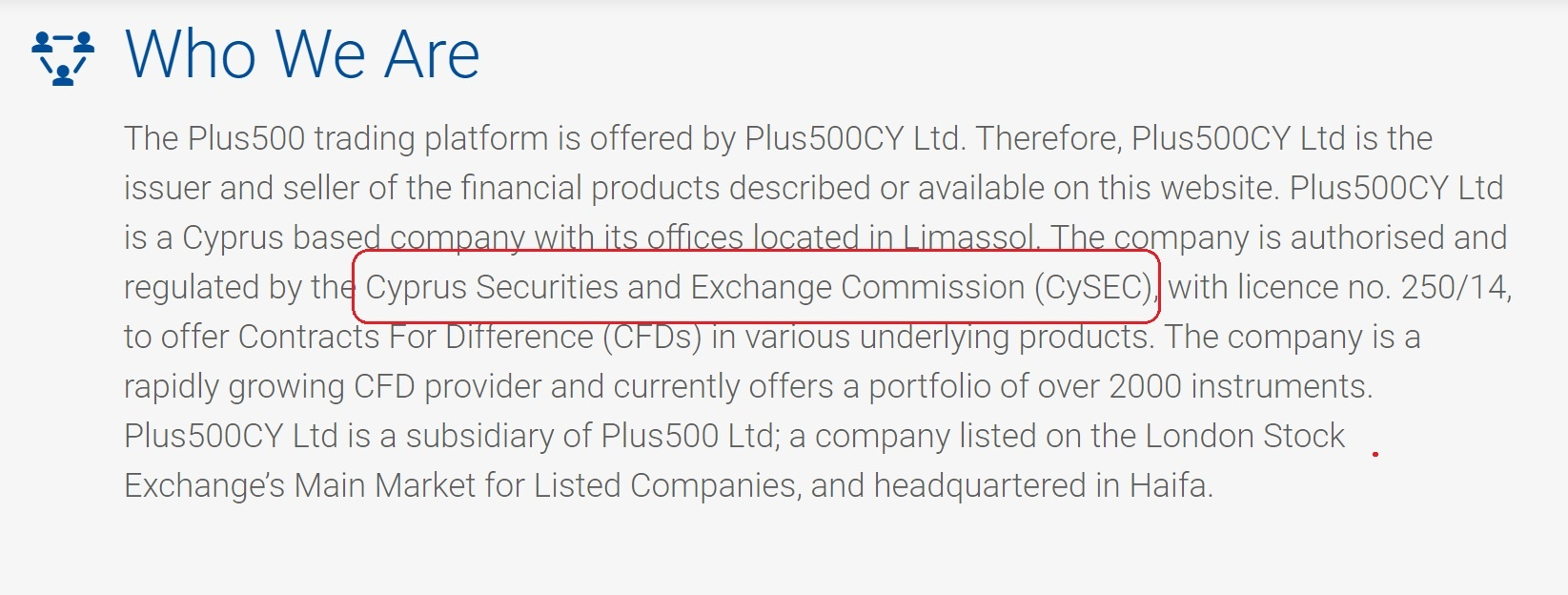 Plus500 CySec regulation