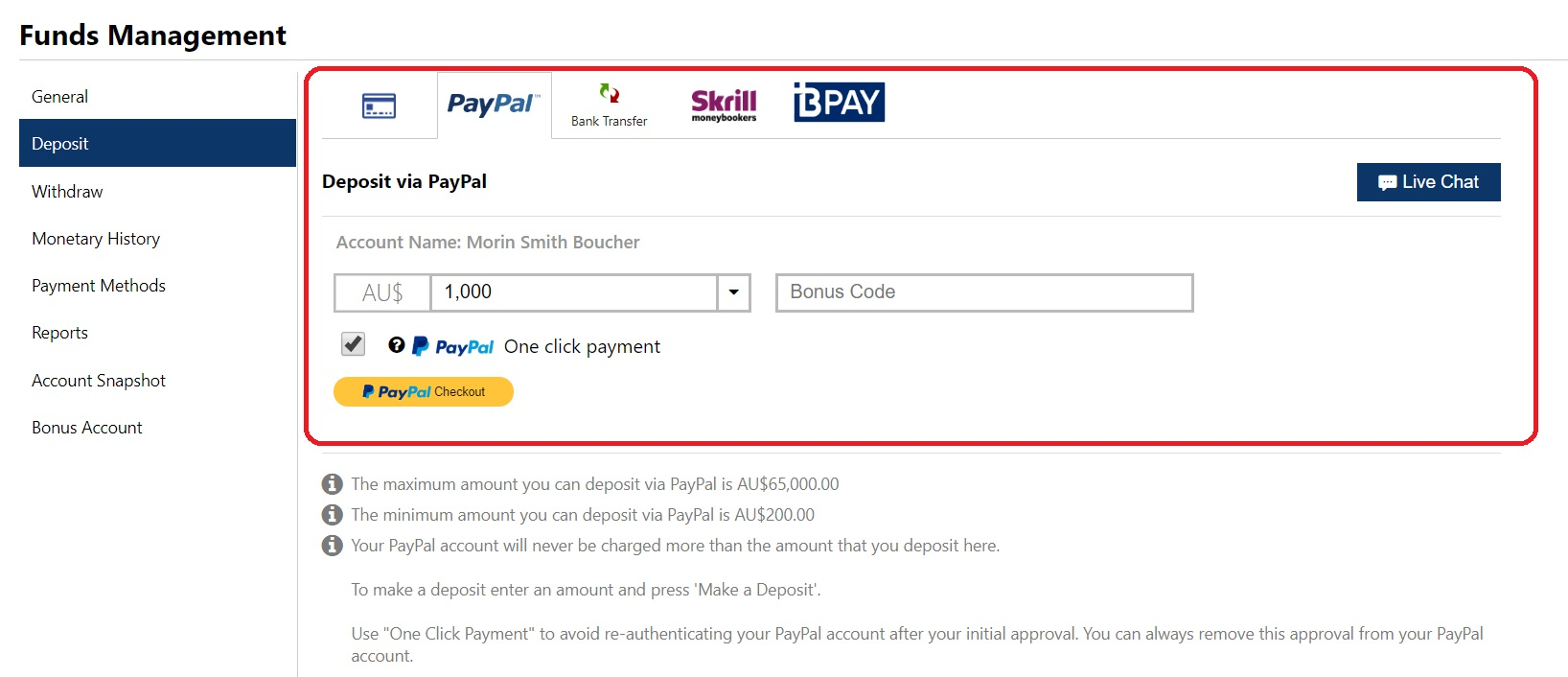 Plus500 accepted payment methods