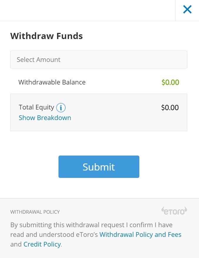 etoro withdraw funds