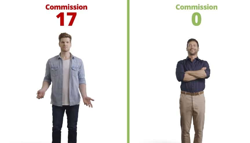 Simon and Joe's stock commissions compared