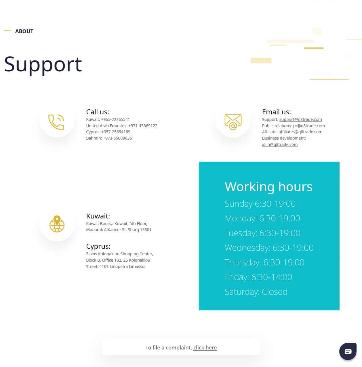 Q8Trade customer support