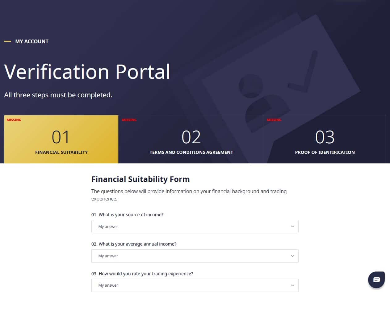 Q8Trade verification portal