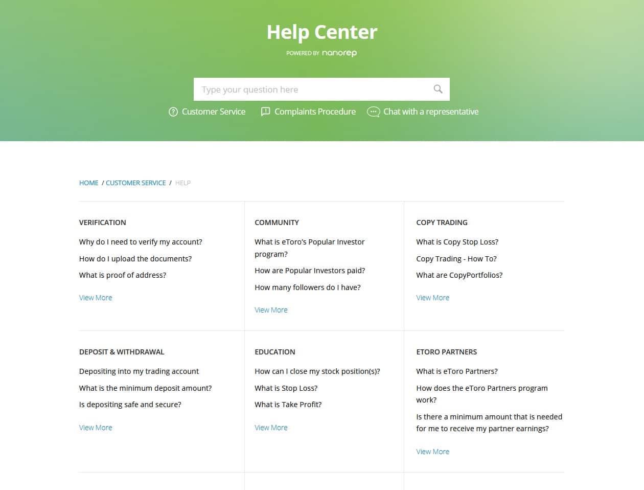 eToro Help Center