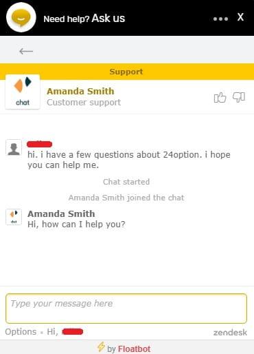 24option live chat