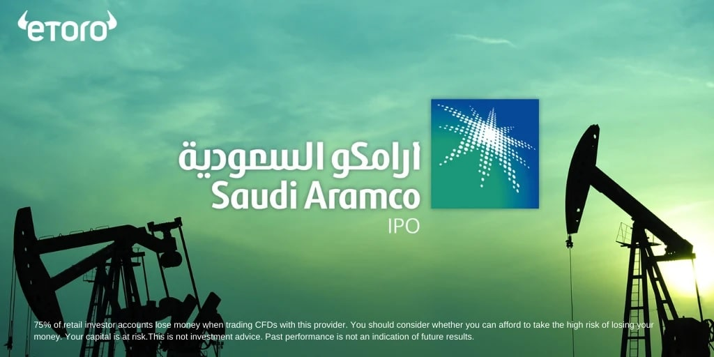 Saudi Aramco stocks trading with eToro