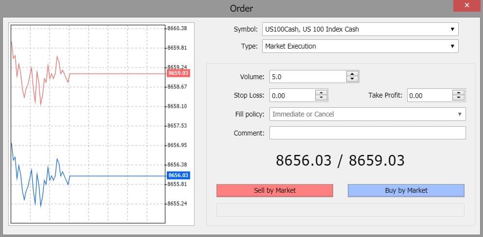 XM NASDAQ 100 trading