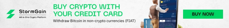 StormGain Buy Crypto with Credit Card banner